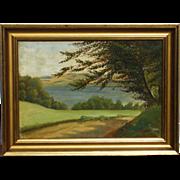 E. Steffensen Scandinavian Danish art oil landscape painting signed and dated 1909