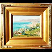 Maude W. Schumacker (1882- 1972) impressionist California plain air seacoast landscape painting