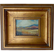 "Colorado autumn landscape oil painting signed ""OKLAR"" dated 1974"