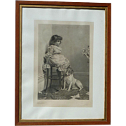 Charles Burton Barber (1845 -1894) pencil signed engraving English artist famed for portrayals of children and animals