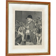 Charles Burton Barber (1845 - 1894) pencil signed engraving British artist famed for portrayals of children and animals prints girl and her dogs