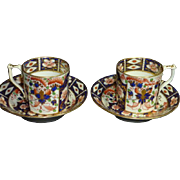 A PAIR Early 19th century English Royal Crown Derby Imari porcelain coffee cup and causer