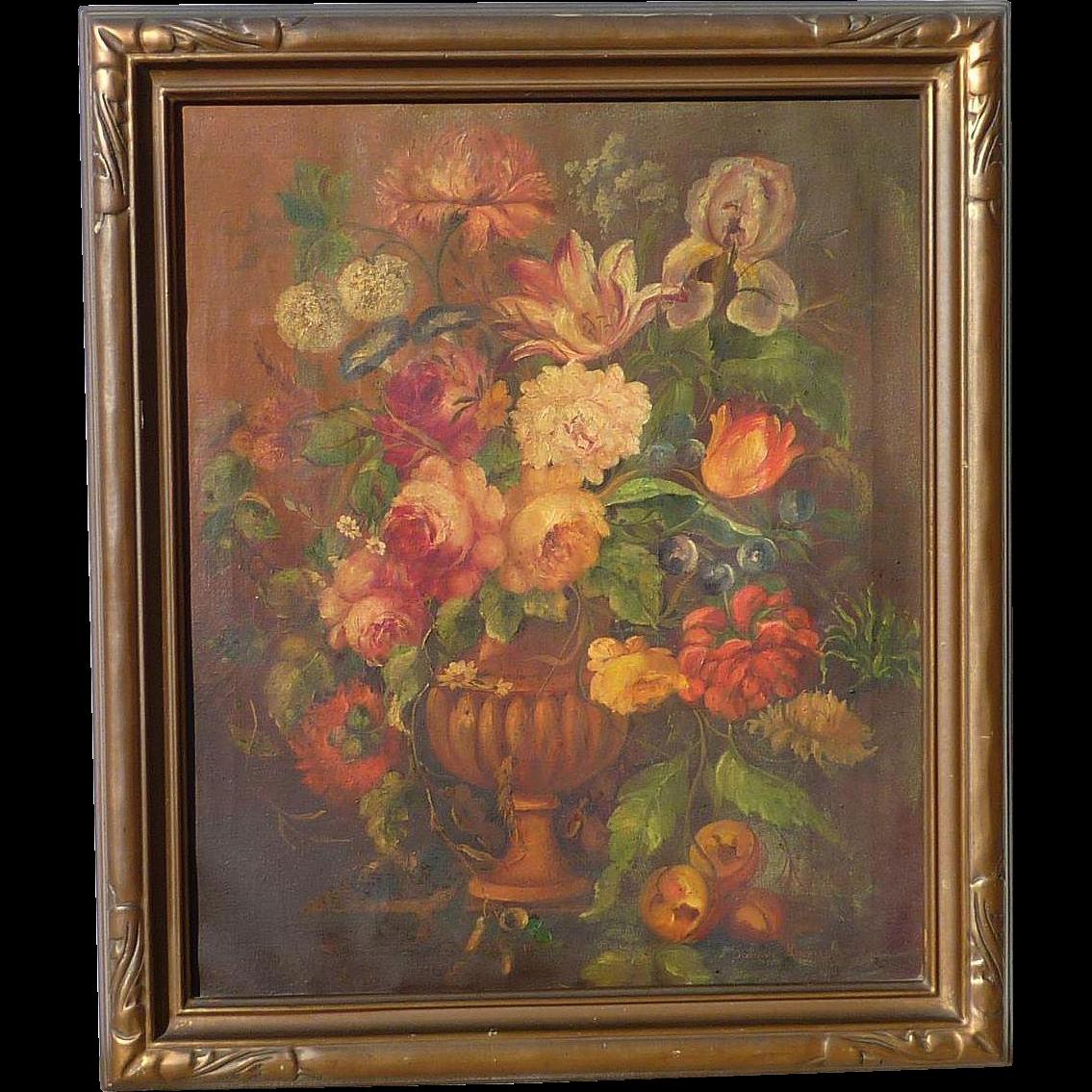 Dorothy Kimball American Artist Floral Still Life Oil On
