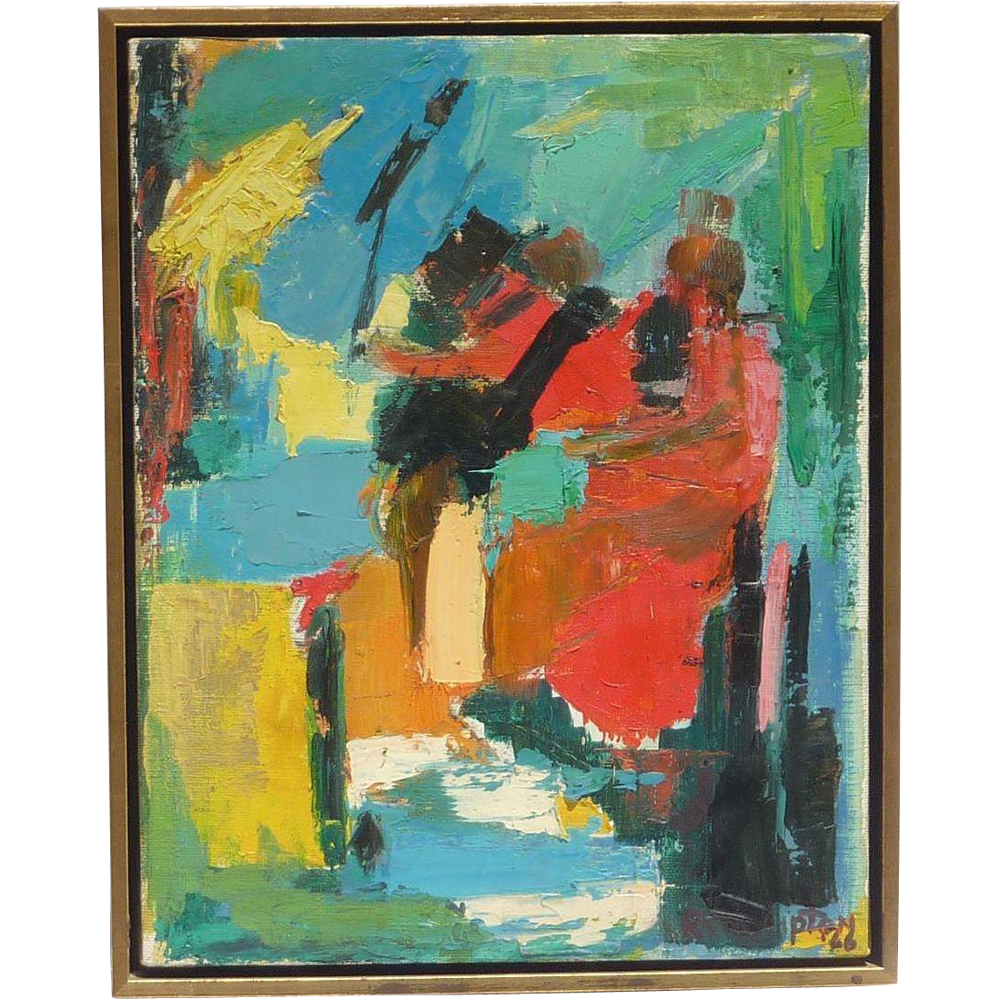 Rita Lipton 1912 1986 Modern Mid Century Abstract Oil