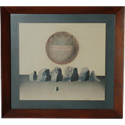 Anatoly Brusilovsky - Brusilov  (1932 -) major Russian Avant - Garde artist 1971 collage art
