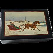 Elizabeth Mumford American listed artist painter folk art wood box hand painted