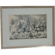 Theodore Van Soelen (1890 -1964) American New Mexico artist lithograph signed in pencil