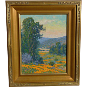 Gary Ray (1952-) Impressionist California plain air landscape oil painting by contemporary artist