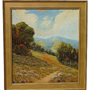 Raymond Vale landscape painting California plain air circa 1930 likely Mount Tamalpais