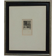 David Wilkie (1785 - 1841) Scottish well listed artist small original etching of a children and dog circa 1813