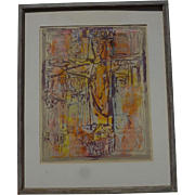 Sister Mary Corita Kent (1918- 1986) pencil signed serigraph print