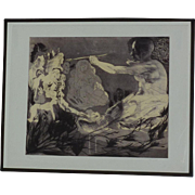 Jorge Castillo (1933-) etching homage to Picasso by well listed Spanish contemporary artist signed and dated in pencil