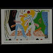 "David Hockney (1937 -) original museum poster ""Hockney Paints the Stage"""