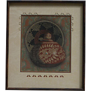Eugene Baatsoslanii Joe Navajo Art Southwest sand painting