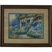 J. Geldard Walton 19th century British listed artist watercolor painting of Anne Hathaway's Cottage wife of W. Shakespeare