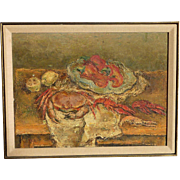 Isaac Pailes (1895 - 1978) Ukrainian French artist still life abstract oil painting