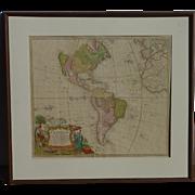 "Homann Heirs 1746 map of North America and South America ""Americae Mappa generalis Secundum legimitas projectionis Stereiographiae regulas… MDCCXXXXVI"