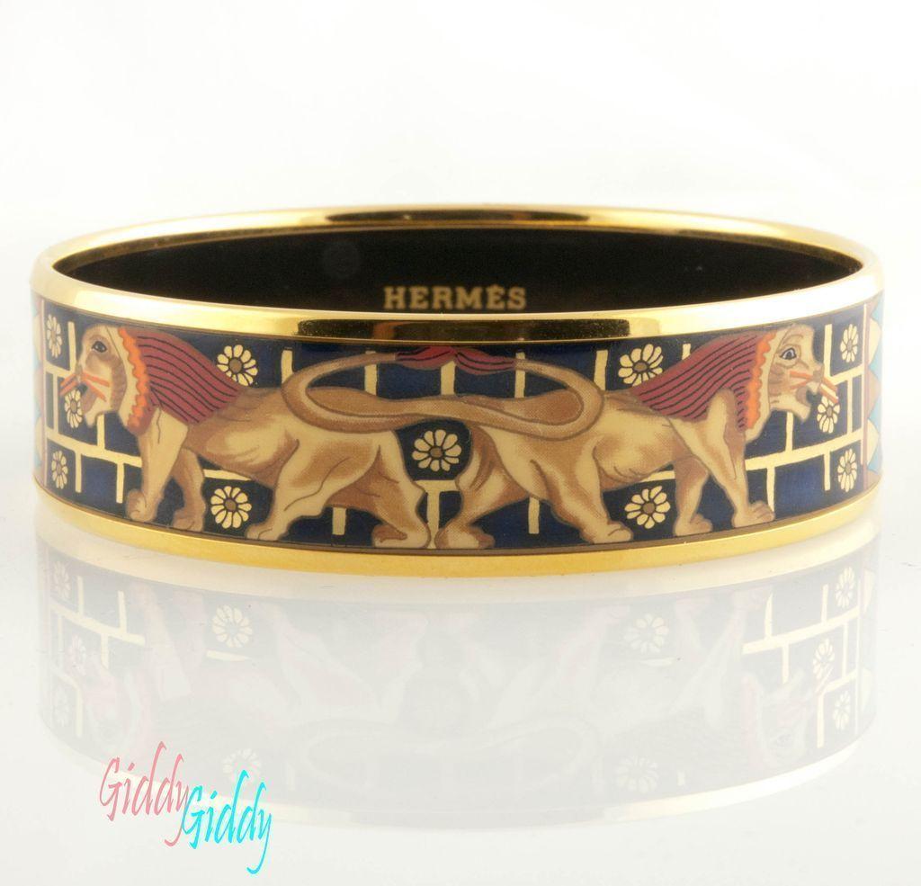 Hermes Paris Enamel Bracelet Egyptian Revival