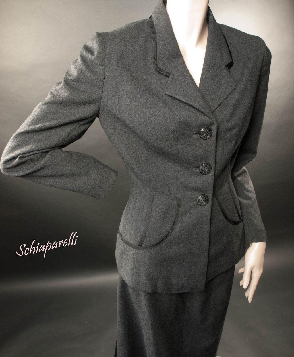 Schiaparelli Suit  Late 1940's Classic & Exceptional