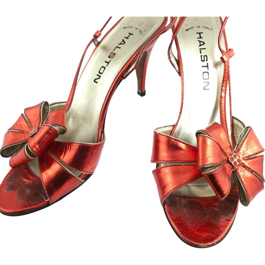 1970's Halston Heels 8.5 Italian Shoes