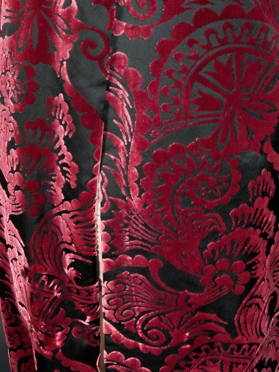 house of worth silk velvet devore coat haute couture no  2250 from giddy on ruby lane