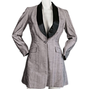 Pink and Black Dupioni Silk Riding Jacket 1950's Custom Tailored