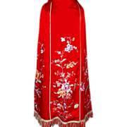 1930's Chinese Embroidered Wedding Skirt
