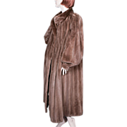 Hubert de Givenchy Sheared Mink Coat Vintage Swing Full Length
