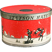 1920s Stetson Hatbox Christmas Art Deco