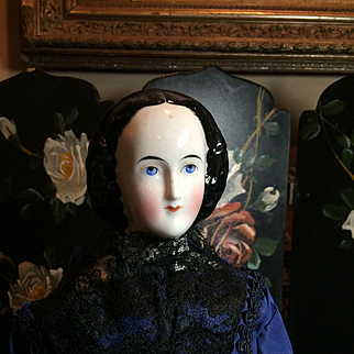 """Antique China With Snood! -20"""" Tall"""