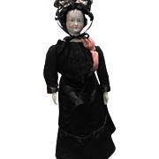 "Antique China Head Civil War Widow Doll-20"""