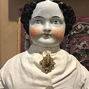 "Pretty Antique China Head -25"" Tall -Summer Sale!!!"