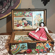 Small Antique Doll Trunk with China head Doll!!!
