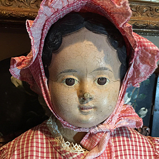 """30"""" Early German Paper Mache Doll- SPECIAL PRICED!"""