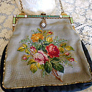 Antique Edwardian Jeweled and Enamelled Purse
