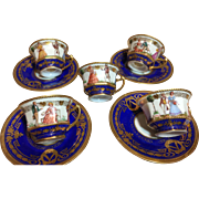 Demitasse Dresden Set of 4 by A. Lamm -RARE!!!