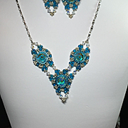 Bead Necklace Set- Aqua Ice