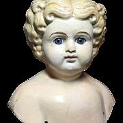 Antique Papermache Doll Head
