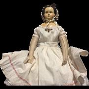 """31"""" Antique Paper Mâché Doll"""
