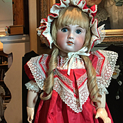 """30"""" Beautiful SFBJ French Bisque Doll"""