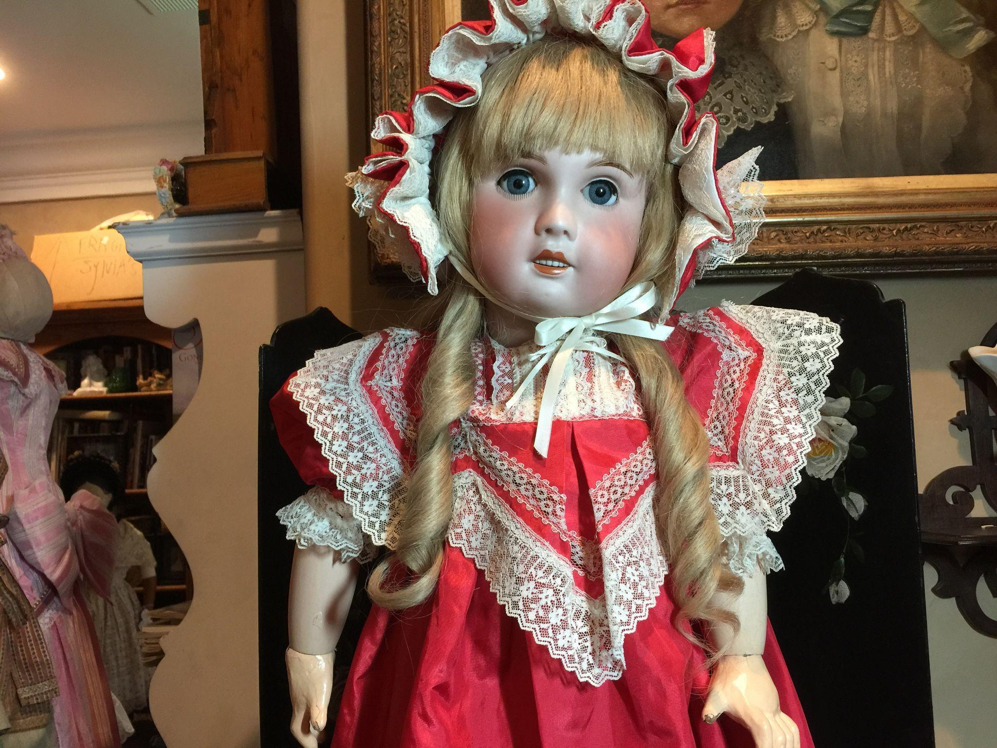 "30"" Beautiful SFBJ French Bisque Doll"