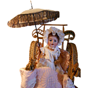 Antique Victorian Doll Carriage Parasol