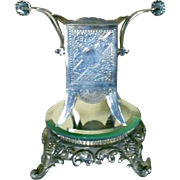 Antique Silverplated Spooner By James W. Tufts Circa 1870