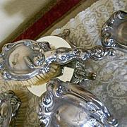 Antique Victorian Silverplate Dresser Set