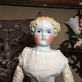 Blonde Antique China Head Doll with Provenance