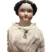 """Sweet Antique Pink Tint China Head Doll-21"""" Tall"""