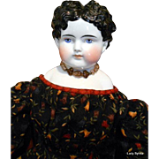 "Antique China Head Doll -26"" Tall"