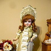 "21"" Antique CM Bergman Doll Beautifully Dressed!"
