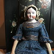 Huge Covered Wagon Kestner China Head Doll