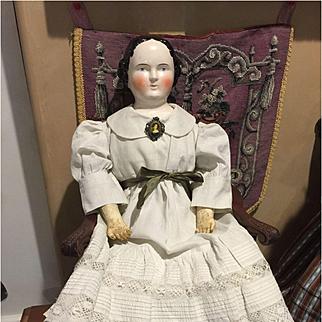 """28"""" Early Kestner China Head Doll"""